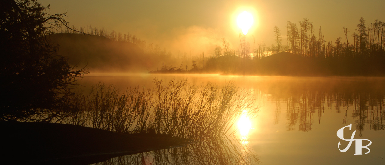 Photo: Sunrise in the BWCA in northern Minnesota. Photo by Chris J. Benson